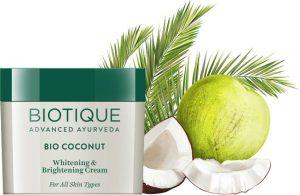 Best Fairness Cream in India - Biotique Bio Coconut Whitening & Brightening Cream