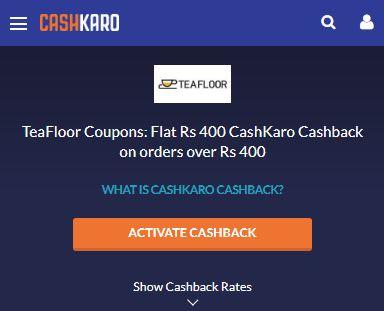Teafloor CashKaro