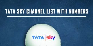 Tata Sky Channel List with Numbers 2019