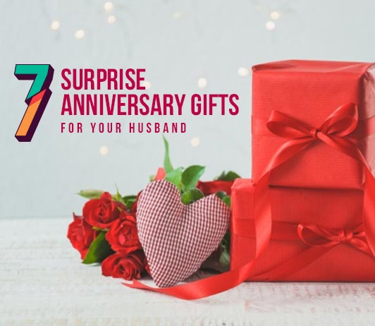 Romantic surprise gift for husband