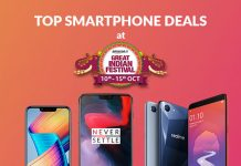 Top Smartphone Deals at Amazon Great Indian Festival