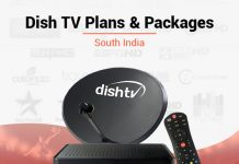 Best Dish TV Plans & Packages in South India