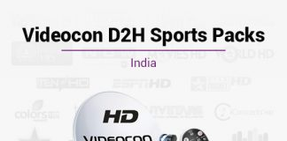 Videocon D2H Sports Packs - Best Videocon D2H Sports Plans & Packages in India