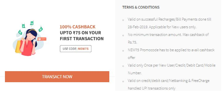 Freecharge Recharge Offer