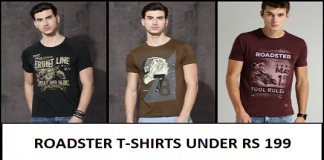 Cool Roadster T-Shirts Deals Under Rs 199