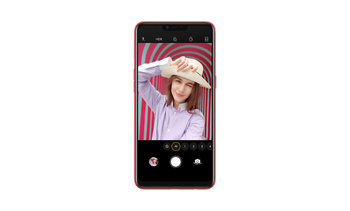 OPPO A3s front camera