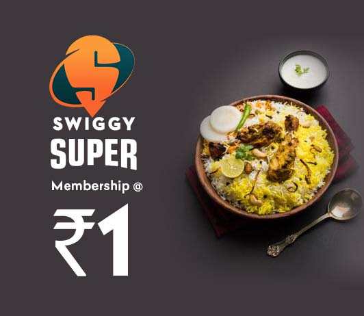 Swiggy Super Membership at Re 1