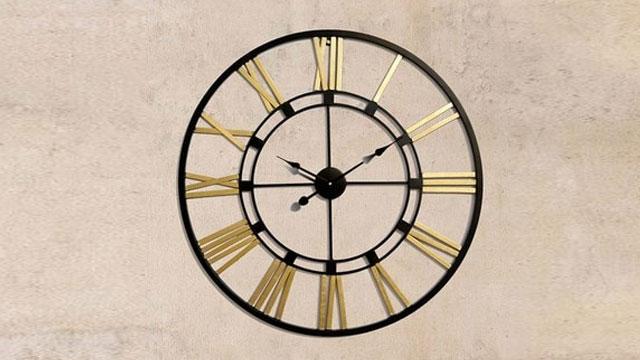 Metallic Wall Clock