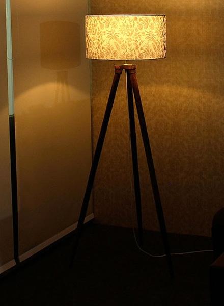 Fabric Tripod Lamp