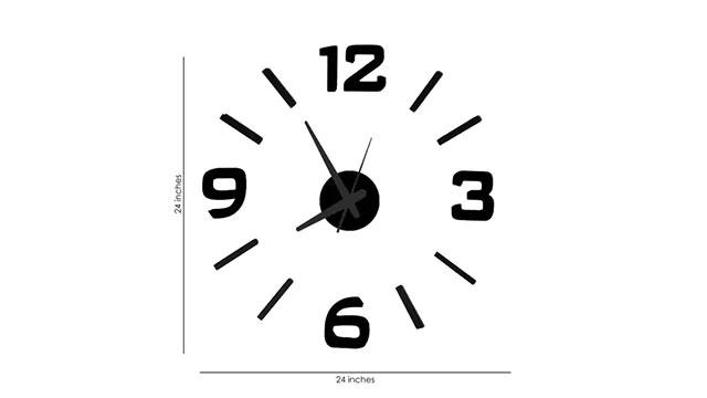 Foam & Aluminum Wall Clock