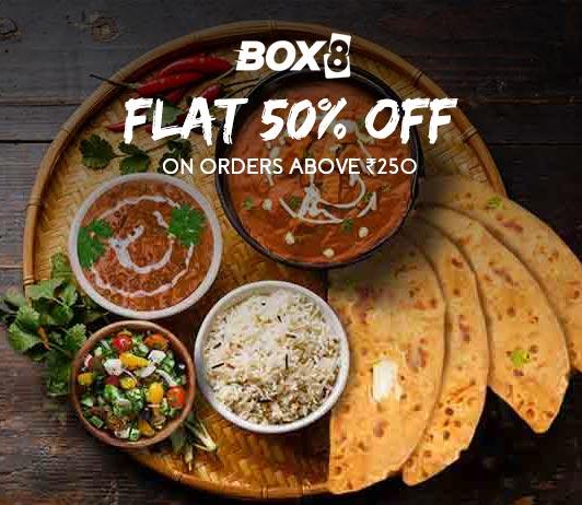 Box8 Flat 50% Off Offer