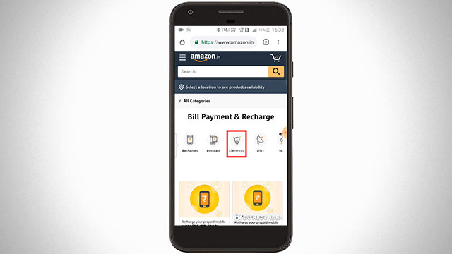 Choose Electricity bill payment