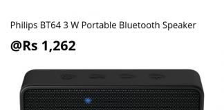 Philips BT64 3 W Portable Bluetooth Speaker (2)