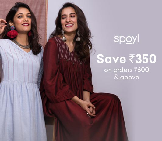 Spoyl Cashback Offer Save Rs 350 on orders Rs 600 and above