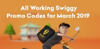 Swiggy Working Coupon Codes March 2019
