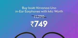 boAt Nirvanaa Uno in-Ear Earphone with Mic Worth Rs 1990