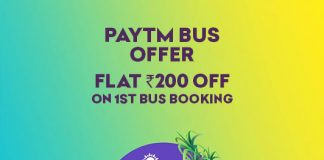 paytm bus booking 100% new user offer