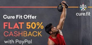 CureFit PayPal Offer