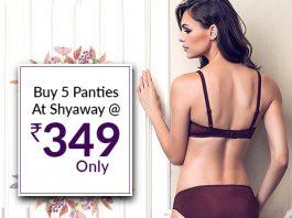 Buy 5 Panties At Shyaway @Rs 349 Only