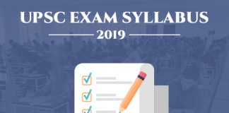 UPSC Exam Syllabus 2019