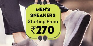 Buy Men's Sneakers Starting From Rs.270