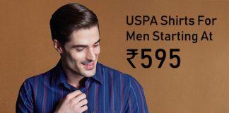 USPA Shirts For Men Starting At Rs.595
