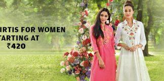 Anahi Kurtis For Women Starting At Rs.420