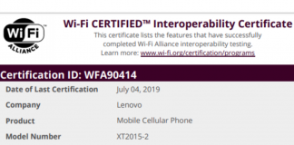 Lenovo's New Smartphone XT2015-2 Wi-Fi Certification Leaked