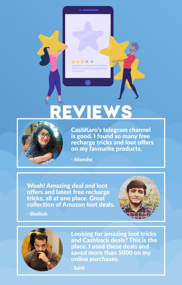 CashKaro Telegram Reviews