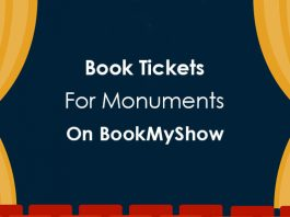 book tickets for monuments in india on bookmyshow
