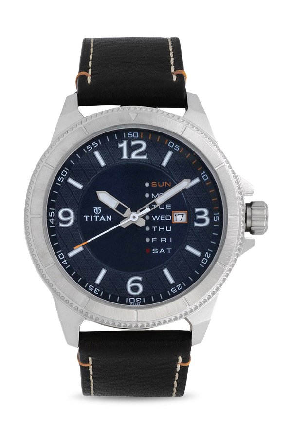 9e307433732 GRAB DEAL. Titan Purple NJ1701SL01 Steel Blue Dial Analog Men s Watch  (NJ1701SL01)