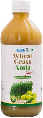 HealthVit Wheat Grass Amla Juice, 500 ml