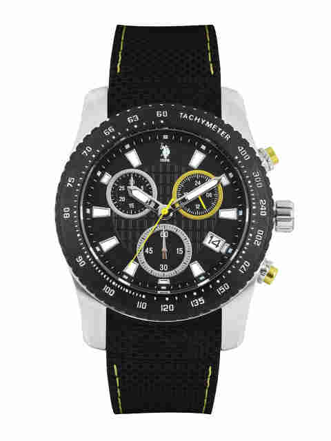 U.S. Polo Assn. USAT0121 Silicone Strap Chronograph Watch