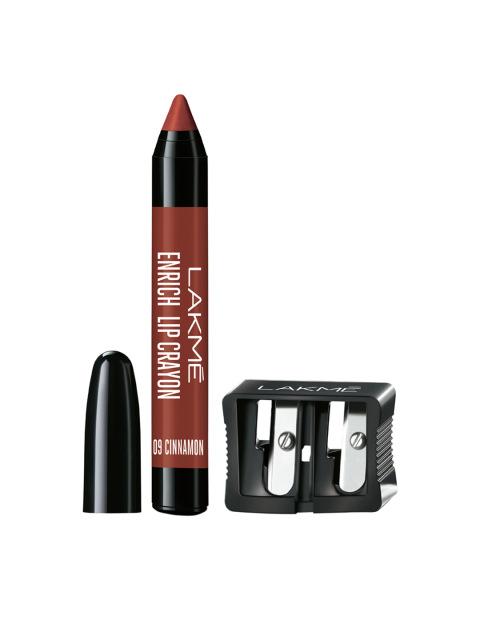 Lakme Enrich Lip Crayon Cinnamon Brown