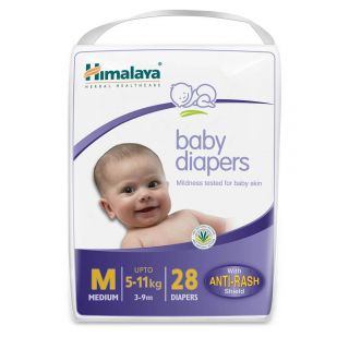 Himalaya Anti Rash Baby Diapers, M (28 Pieces)