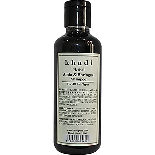 Khadi Herbal Amla & Bhringraj Shampoo, 210 ml