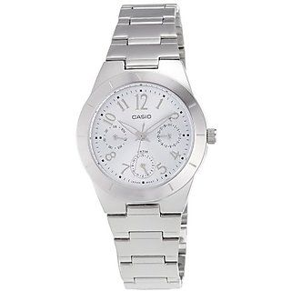 Casio Enticer LTP-2069D-2A2VDF (SH147) White Dial Women'ss Watch
