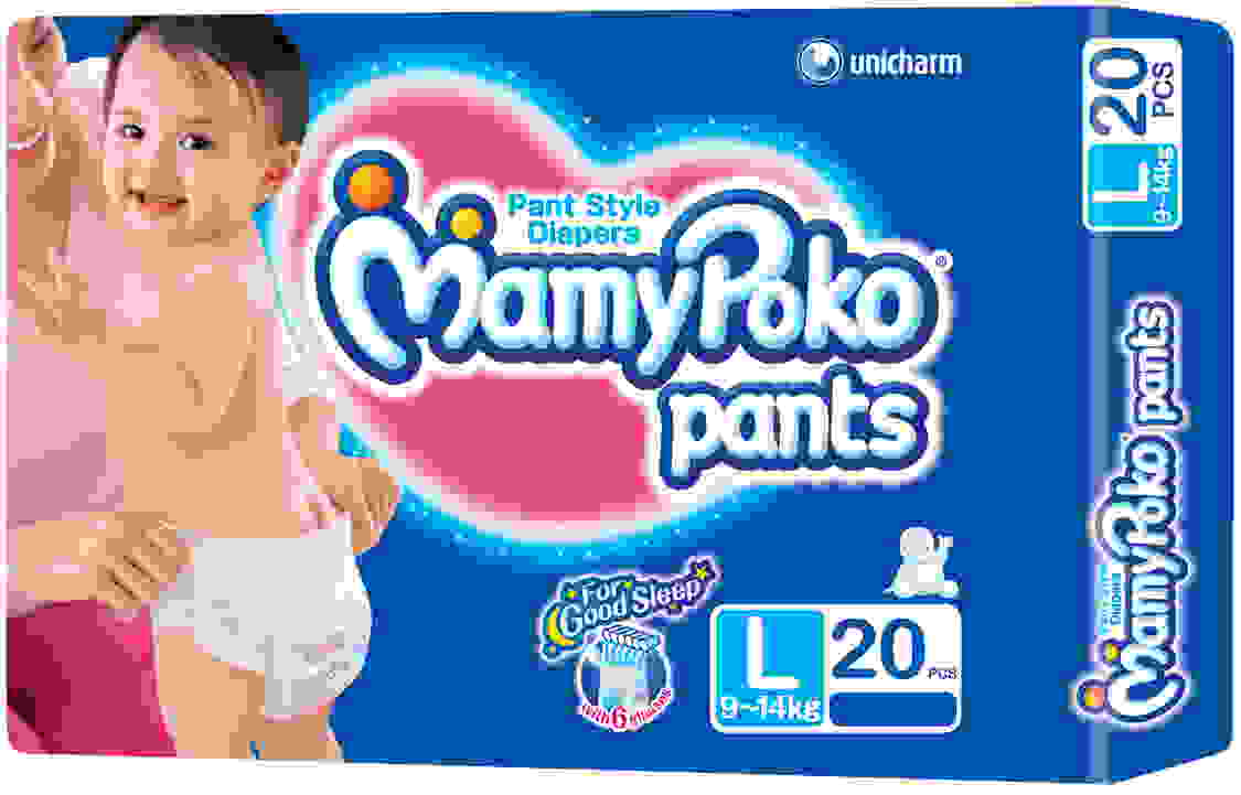 Mamy Poko Pants Good Sleep Baby L Diapers (20 Pieces)