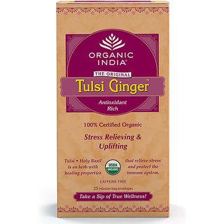 Organic India Ginger, Tulsi Tea Bags, 25 Tea Bags