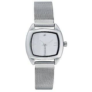 Fastrack 6001SM01 Analog White Dial Women's Watch