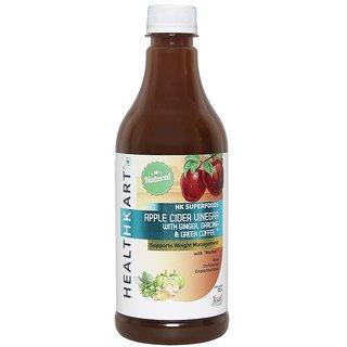 Healthkart Apple Cider Vinegar For Weight Management With Ginger, Garcinia - 0.5 L