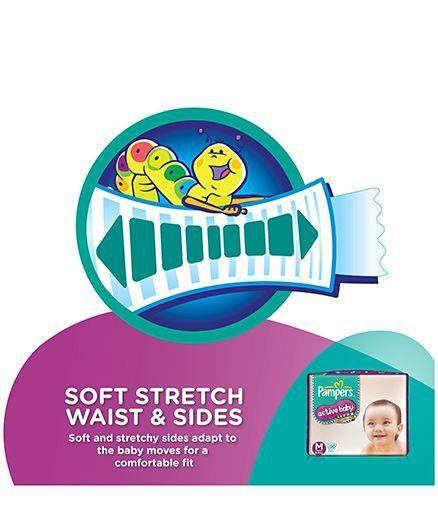 Pampers Active M Diapers (90 Pieces)