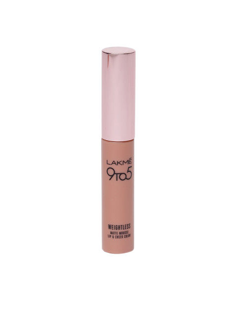 Lakme 9 to 5 Weightless Matte Lipstick Mousse Lip & Cheek Color, Rose Touch