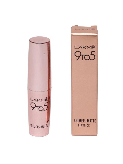 Lakme 9 to 5 Primer Matte Lipstick, MB12 Choco Break