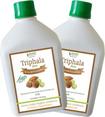 Bhumija Lifesciences Triphala, Amla, Baheda & Harad Juice Energy Drink- 1 L, Pack of 2