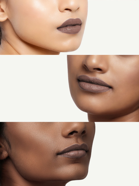 M.A.C Stone Muted Greyish Taupe Brown Lipstick 3 GM