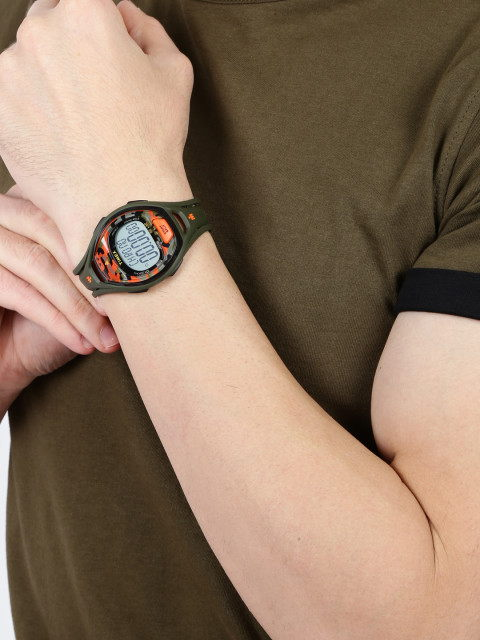 Timex TW5M01200 Olive Green Indiglo Digital Unisex Watch