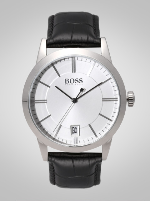 89de0db68 Hugo Boss 1513130 Silver-Toned Analog Men's Watch Price in India ...