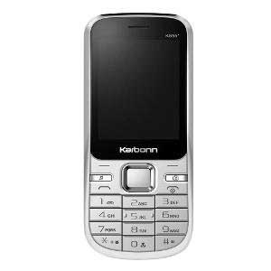 Karbonn K595 128MB Black White Mobile