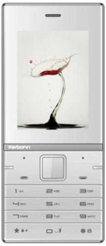Karbonn Kochadaiiyaan The Legend 2.4 4 GB Silver White Mobile